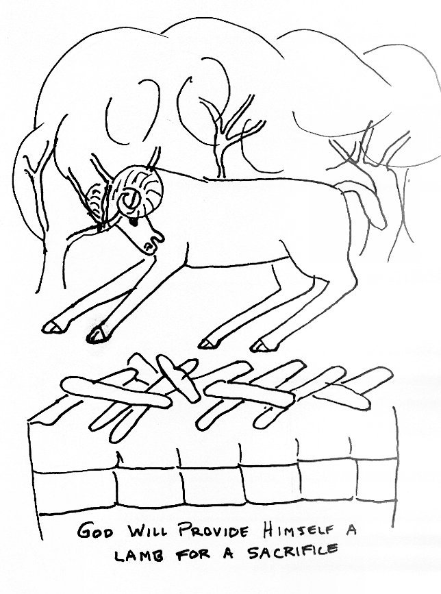 Bible Story Coloring Page For Abraham And Isaac