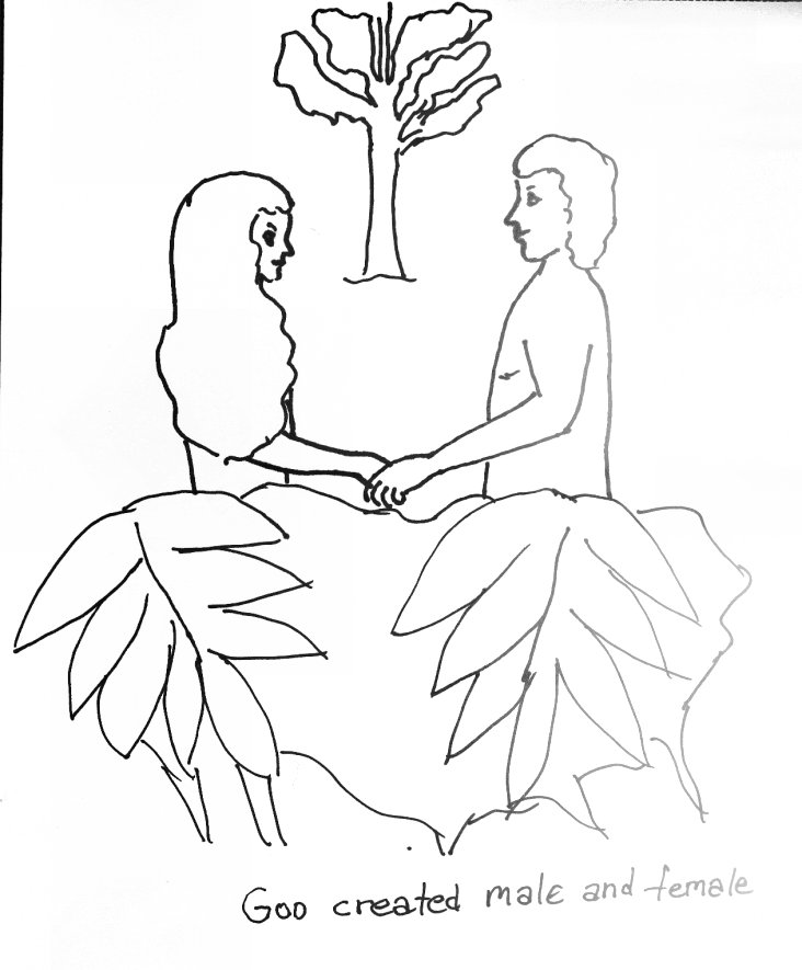 Adam and eve coloring pages for kids ~ Coloring Page for Adam and Eve | Free Bible Stories for ...