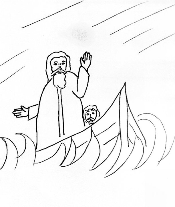 Bible Story Coloring Page For The Apostles And The Storm