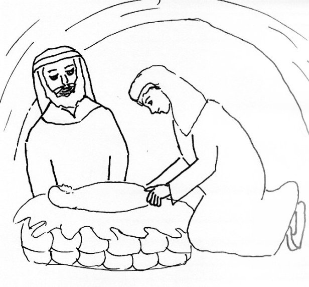 birth of Lord Jesus coloring page