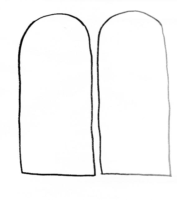coloring pages ten commandments tablets for sale | Blank Stone Tablet Coloring Page Coloring Pages