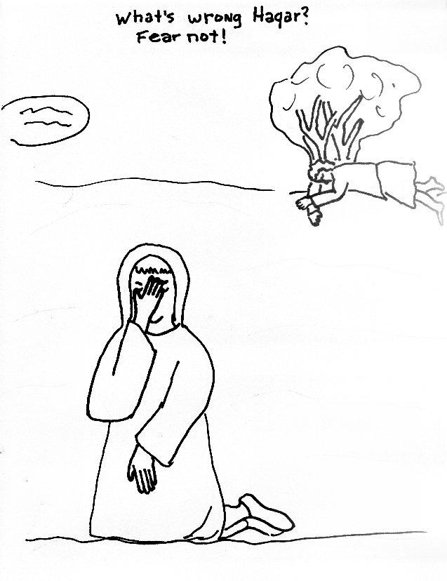 hagar and ishmael coloring page