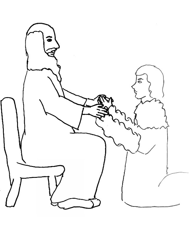Bible Story Coloring Page For Jacob And Esau