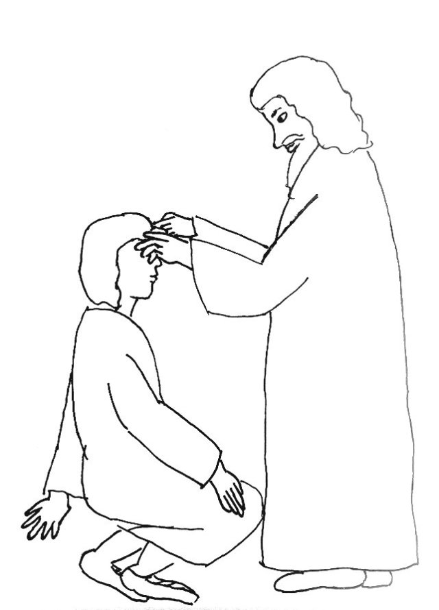 Bible Story Coloring Page for Jesus and the Man Born Blind
