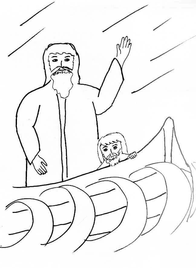 Jesus Calms The Storm 2 Coloring Page
