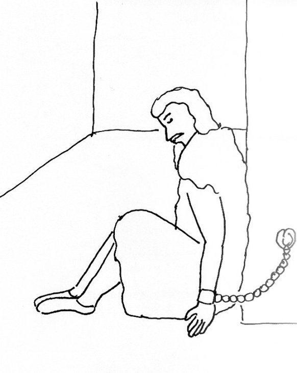 john baptist in prison coloring page