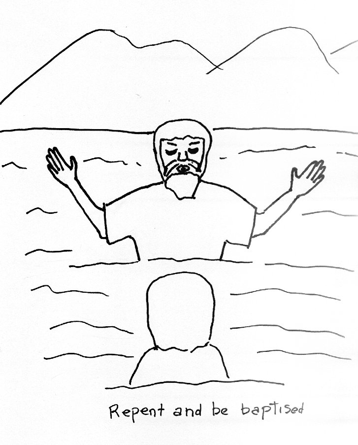 Coloring Page for John the Baptist