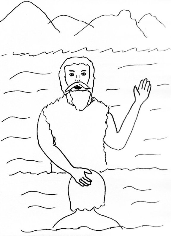 john the baptist redone coloring page