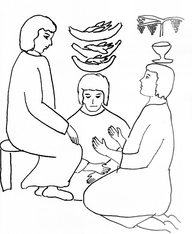 joseph in prison 2 coloring page link to bible story - Bible Story Coloring Pages Joseph