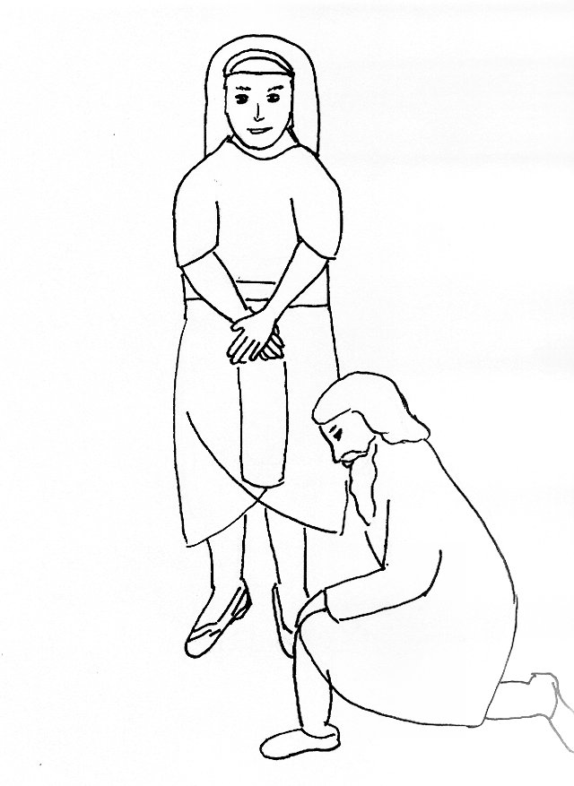 bible story coloring page for joseph reunites with his