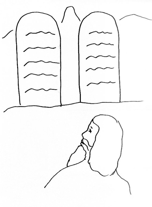 moses and ten commandments coloring page