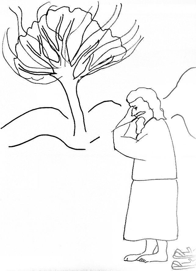 Bible Story Coloring Page For Moses And The Burning Bush