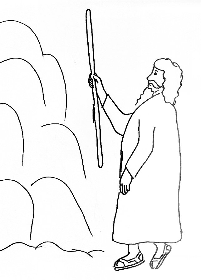 Moses And Water In The Wilderness Coloring Page