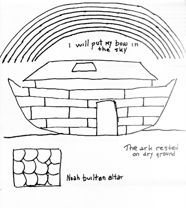 noahs ark coloring pages story - photo#10