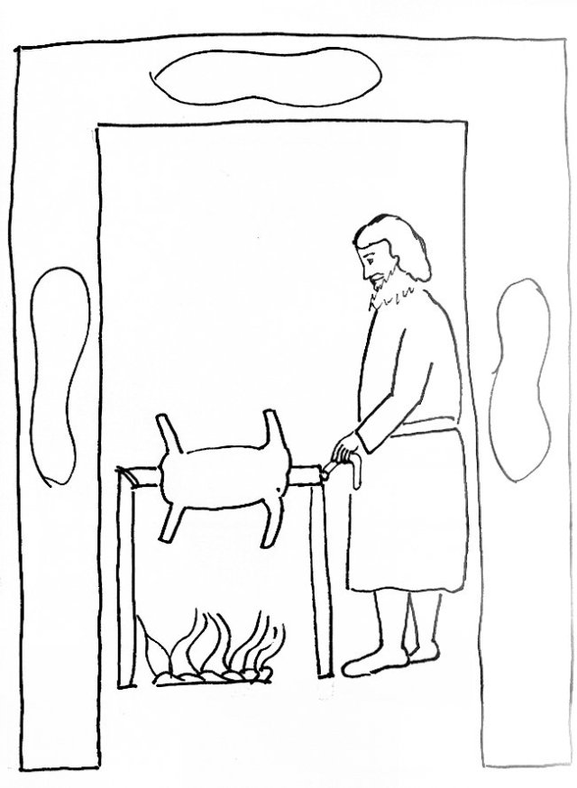 passover 2 coloring page