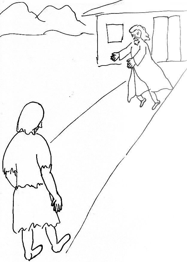 bible story coloring page for the prodigal son free bible stories for children