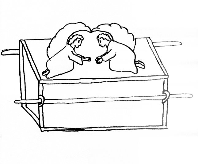 Bible story coloring page for ark of the covenant free for Ark of the covenant coloring page