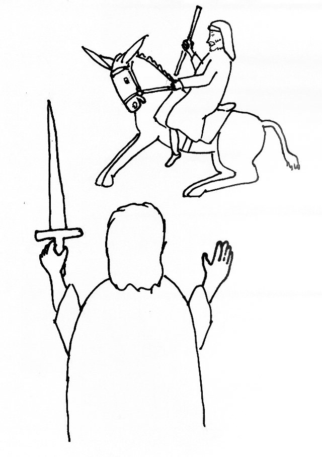 Balaam And His Donkey Coloring Coloring Pages