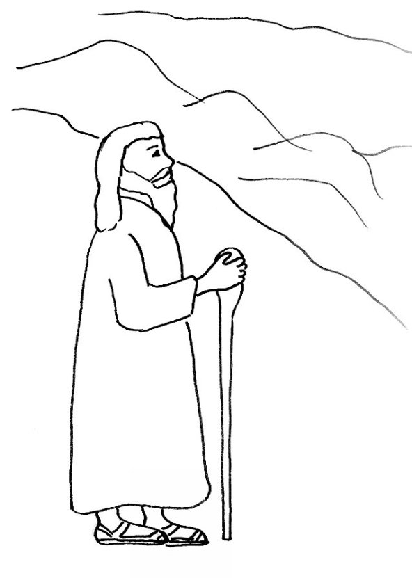 death of moses coloring page