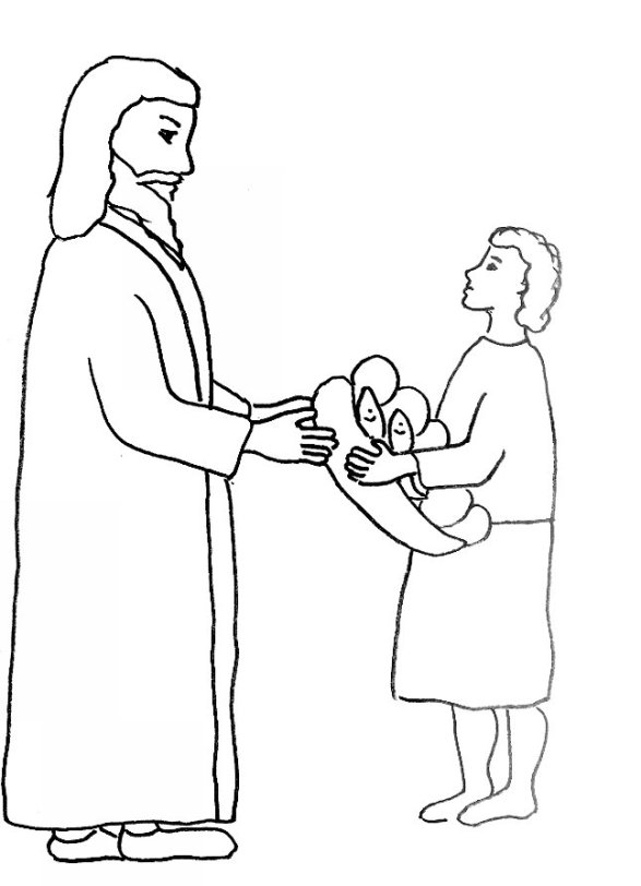 coloring pages of jesus feeding five thousand | 301 Moved Permanently