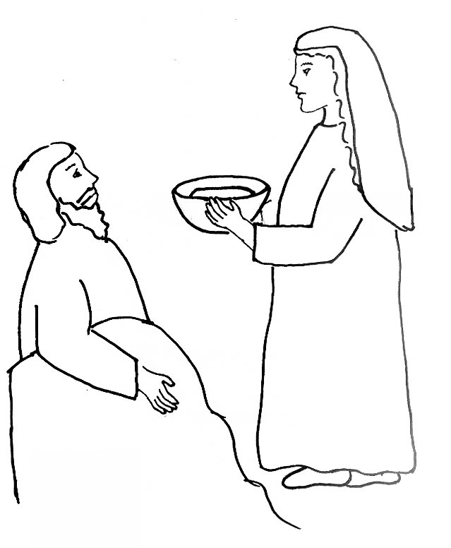 jael and sisera coloring page link to free bible story - Elijah Bible Story Coloring Pages
