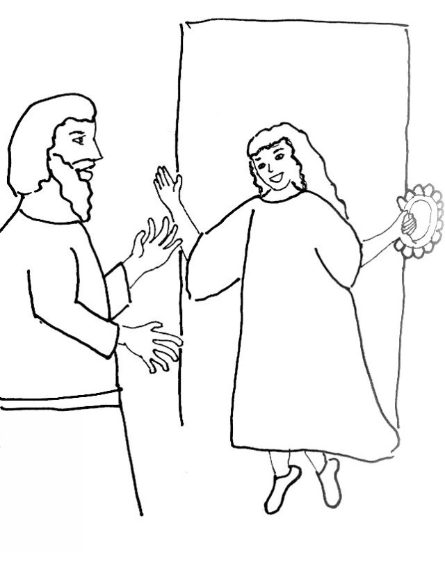 jephthahs daughter coloring page