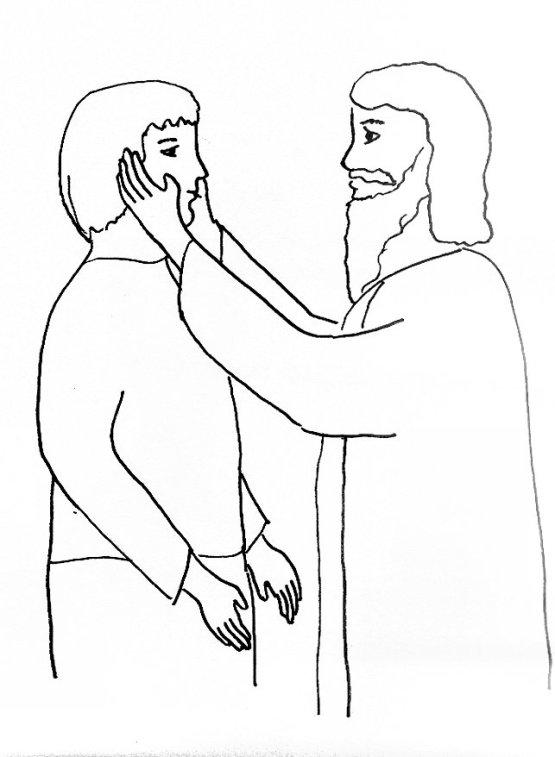 jesus heals a deaf man coloring page