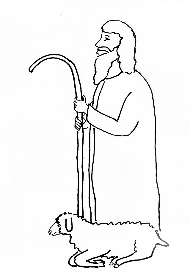 Bible Story Coloring Page For Jesus Our Shepherd