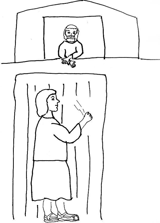 coloring pages of jesus standing - photo#25