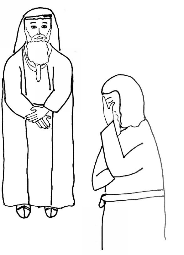 Bible story coloring page for jesus teaches prayer free for The pharisee and the tax collector coloring page