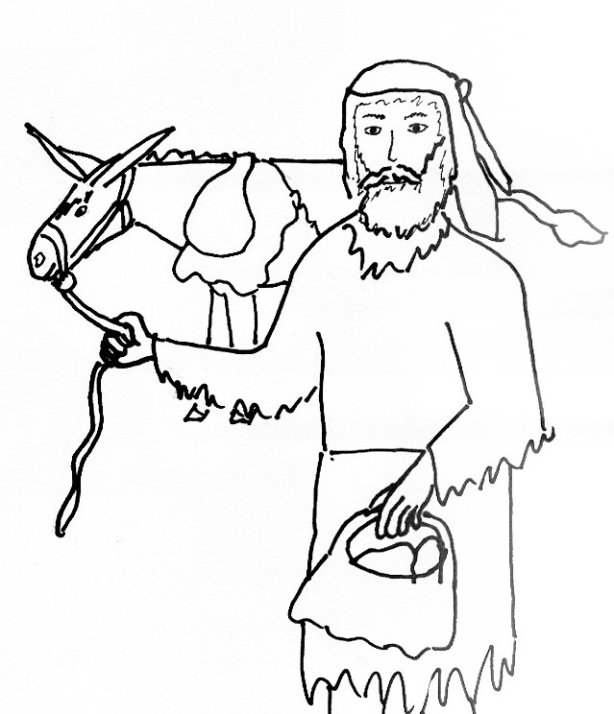 Bible Story Coloring Page for Joshua and the Gibeonites