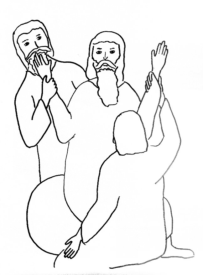 aaron and moses coloring pages - photo#22