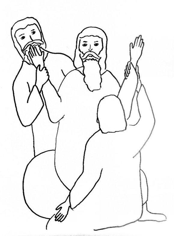 moses and battle with Amalek coloring page