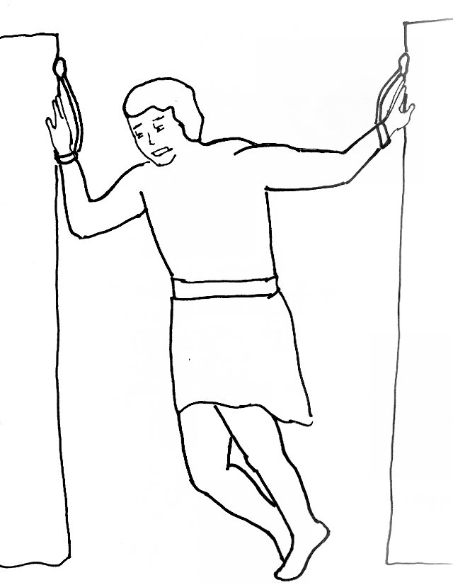 Bible Story Coloring Page For Samsons Victory