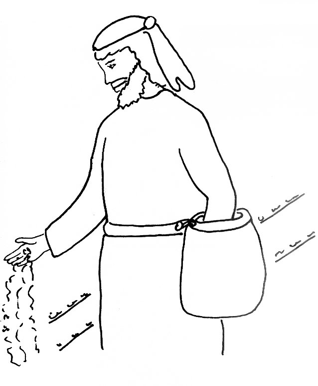 Bible Story Coloring Page for the Sower and the Seed