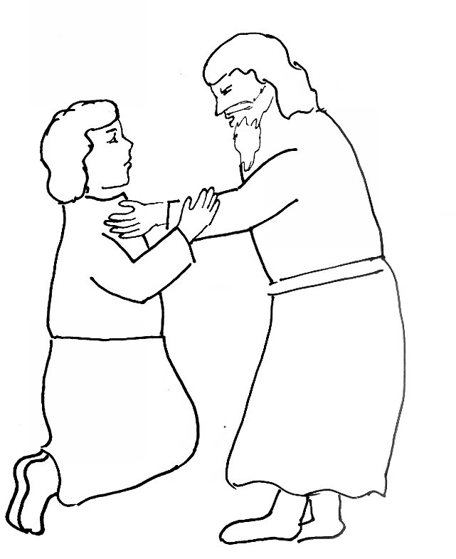 Bible Story Coloring Page For Jesus Teaches About