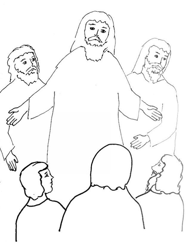 Bible Story Coloring Page for the Transfiguration of Jesus ...