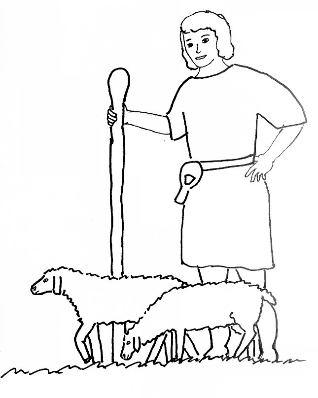 Bible Story Coloring Page For David Is Anointed King David The Shepherd Boy Coloring Page