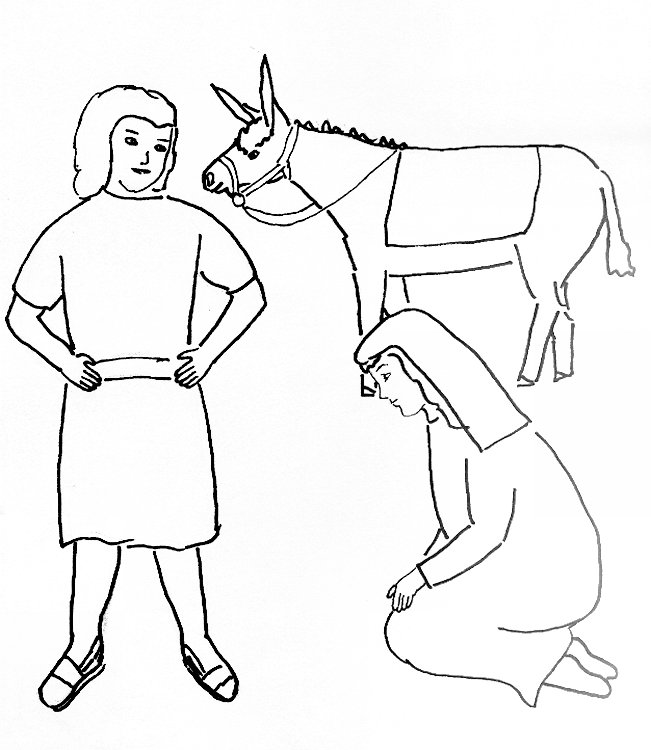 Bible Story Coloring Page for David