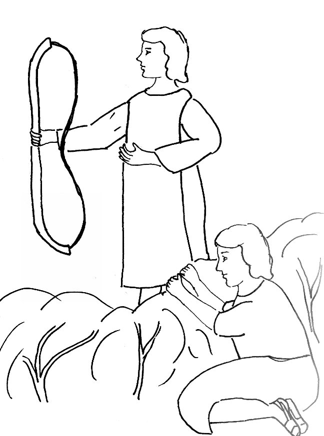 Bible Story Coloring Page for David and Jonathan Free Bible