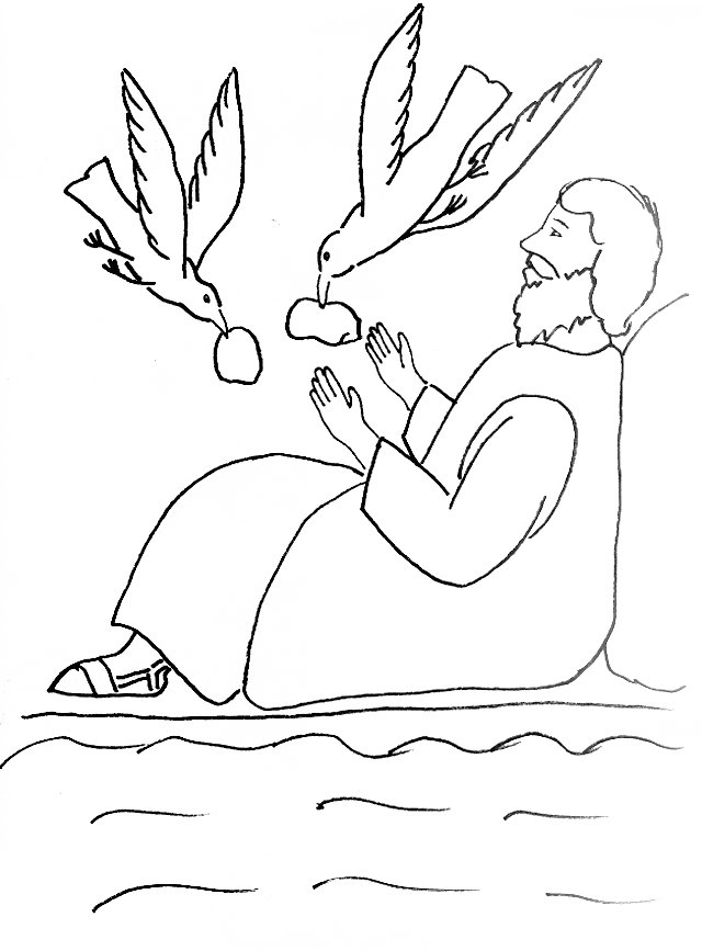 coloring pages of elijah and the widow woman | Bible Story Coloring Page for Elijah and the Widow of ...