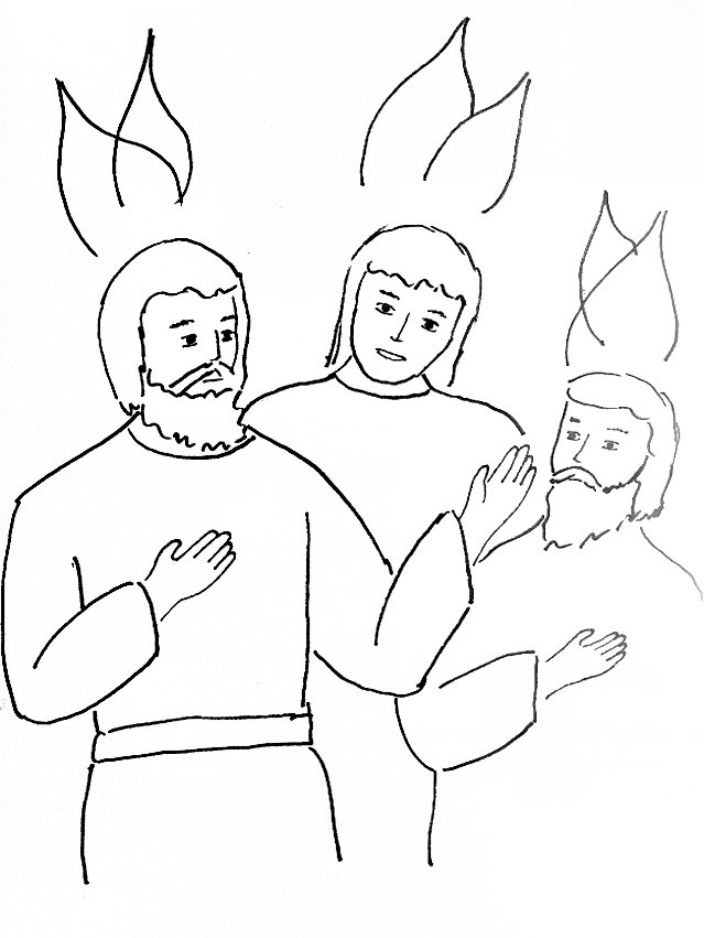 Holy Spirit Comes Coloring Page
