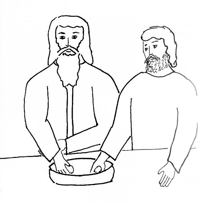 judas betrays jesus coloring page
