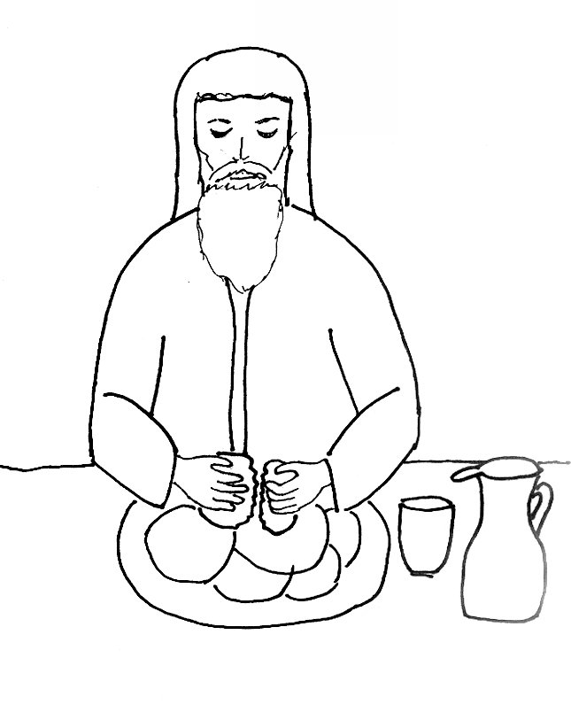 Bible Story Coloring Page for The Last Supper | Free Bible Stories ...