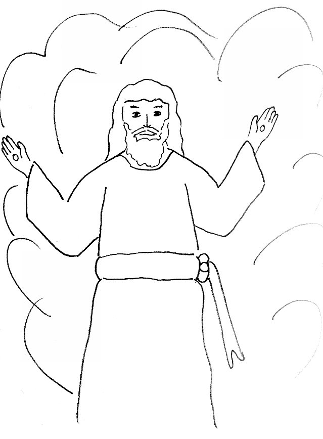 Get Free High Quality HD Wallpapers Coloring Page Jesus Second Coming