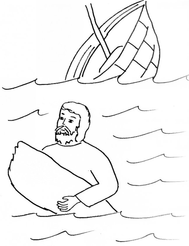 paul is shipwrecked coloring page