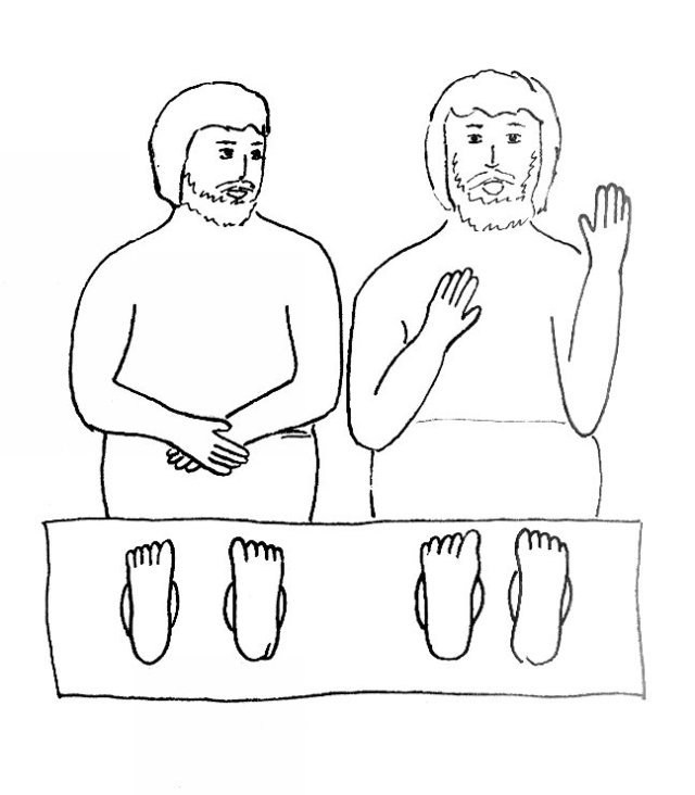 Bible Story Coloring Page for Paul and Silas in Prison