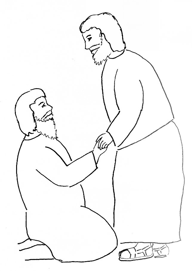 Bible Story Coloring Page Peter Heals a Crippled Man ...