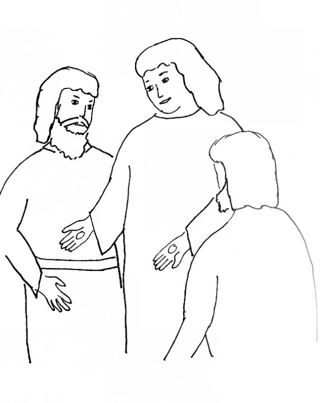 Bible Story Coloring Page for Risen Lord Jesus Appears to