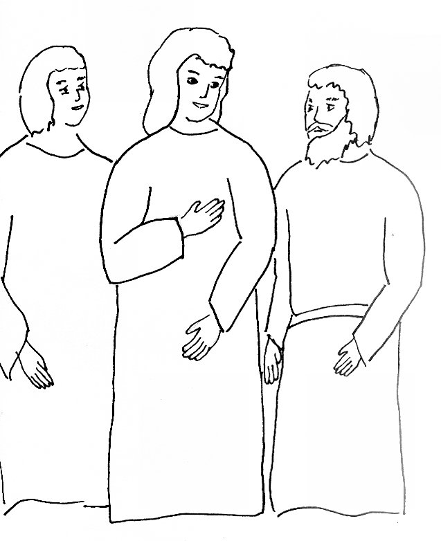 Bible Story Coloring Page For Risen Jesus Appears On The Road To Emmaus